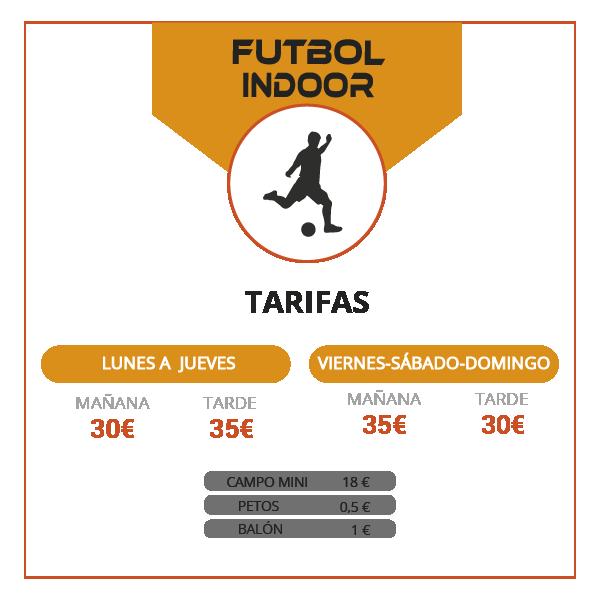 Tarifas fútbol indoor Jerez